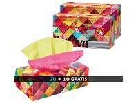 Pack 20 + 10 dozen zakdoekjes Red Label tweekleurig Renova