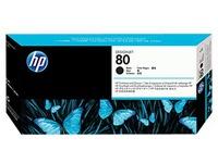 HP 80 - zwart - printkop met reiniger (C4820A)