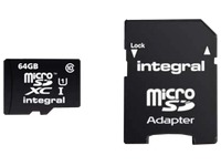 Memory card integral SDXC with adapter 64 Gb - class 10