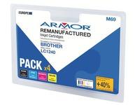 Pack cartridges Armor compatibel Brother LC1240 4 kleuren voor inkjetprinter