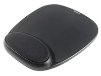 Mouse pad with wrist support in gel colour black