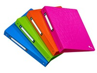 Folder 4 rings plastic Elba Art Pop A4 back 4 cm assorted colours