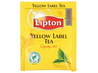 Box with 25 tea bags black tea Lipton Yellow