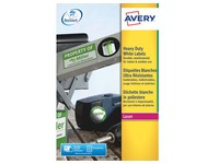 Labels ultra resistant laser 199,6 x 139 mm Avery L7068-20 white - pack of 40