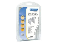 Strong galvanized staples Rapesco 923 - Box of 3200