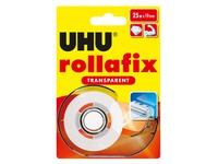 Verdeler plakband Rollafix transparant UHU met rol