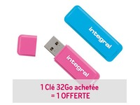 Pack van 1 + 1 USB-stick Integral Neon 32 Gb