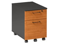 Mobile cabinet 2 drawers alder - anthracite Quarta Plus