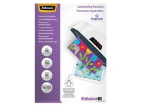 Fellowes Laminating Pouches A4 2 x 80 µ - 100 Sheets