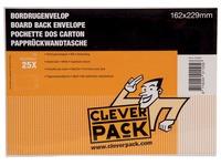 Cleverpack bordrugenveloppen, ft 162 x 229 mm, met stripsluiting, wit, pak van 25 stuks