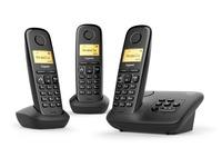 Telefoon met antwoordapparaat Siemens Gigaset A270A Trio - zwart