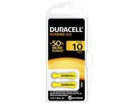Blister van 6 batterijen Duracell voor hoorapparaat type 10