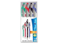 Ballpoint pen Papermate Flexgrip Elite wide line - sleeve with 4 classic colors