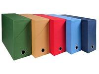 Classifying box fabric-lined cardboard Exacompta back 12 cm assortment