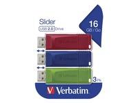 Verbatim Slider - USB-flashstation - 16 GB
