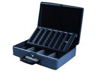 Coffret caisse Pavo avec 2 poignées 370x280x115mm gris