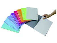 Cahier ADOC pap-ex Color A4 carreau 5mm 144 pges assorti