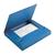 blauw gekartoneerd mapje met 3 kleppen